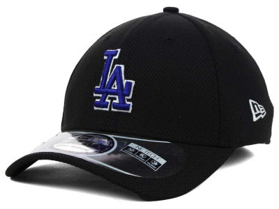 Los Angeles Dodgers MLB Diamond Era Black 39THIRTY Cap Hats