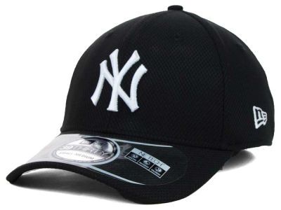 New York Yankees MLB Diamond Era Black 39THIRTY Cap Hats
