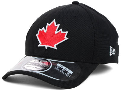 Toronto Blue Jays MLB Diamond Era Black 39THIRTY Cap Hats