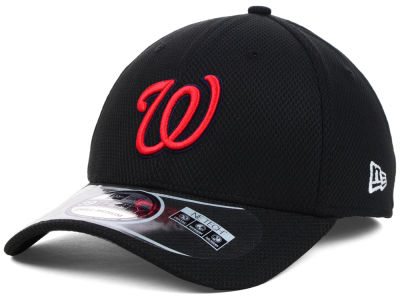 Washington Nationals MLB Diamond Era Black 39THIRTY Cap Hats