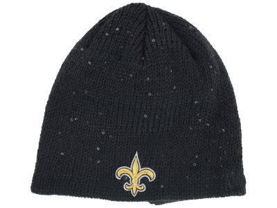 New Orleans Saints NFL Womens Glistener Knit Hats