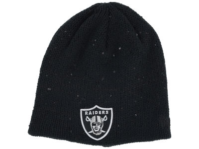 Oakland Raiders NFL Womens Glistener Knit Hats