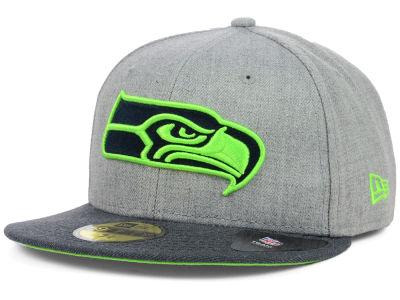 Seattle Seahawks NFL Heather 2 Tone 59FIFTY Cap Hats