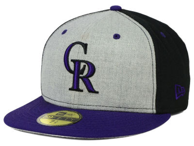 Colorado Rockies MLB Heather Front Runner 59FIFTY Cap Hats