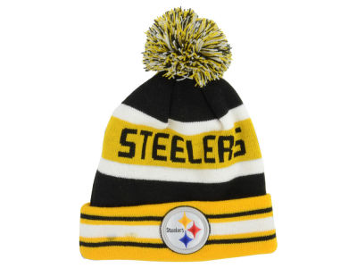 Pittsburgh Steelers NFL Team Color Black Jake Knit Hats
