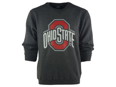 J America NCAA Men's Arch Wordmark Crewneck Sweatshirt