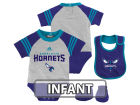 Charlotte Hornets adidas NBA Infant Little Player Creeper, Bib and Bootie Set Infant Apparel