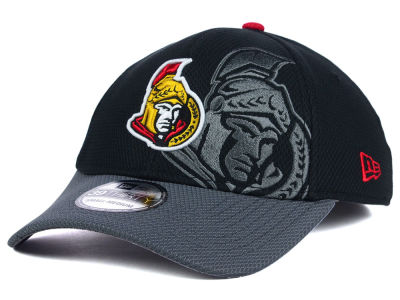 Ottawa Senators NHL Shadow Graphite 39THIRTY Cap Hats