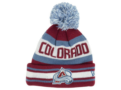 Colorado Avalanche NHL Kids Jacob Pom Knit Hats