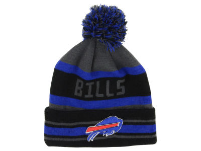 Buffalo Bills NFL Graphite Black Team Color Pop Jake Knit Hats