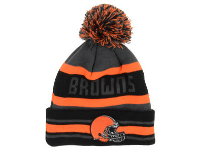 Cleveland Browns NFL Graphite Black Team Color Pop Jake Knit Hats