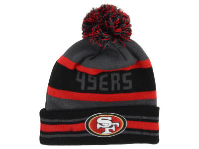 San Francisco 49ers NFL Graphite Black Team Color Pop Jake Knit Hats
