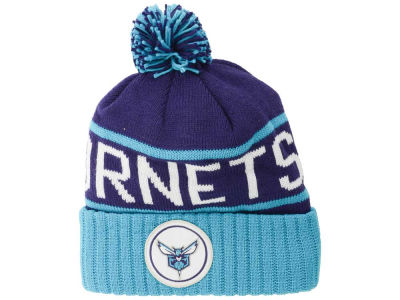 8a074fae620 Charlotte Hornets Mitchell   Ness NBA High 5 Cuffed Pom Knit