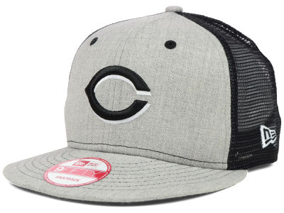 Cincinnati Reds MLB Heather Trucker 9FIFTY Snapback Cap Hats