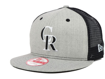 Colorado Rockies MLB Heather Trucker 9FIFTY Snapback Cap Hats