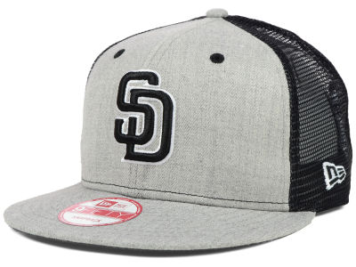 San Diego Padres MLB Heather Trucker 9FIFTY Snapback Cap Hats