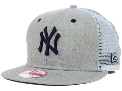 New York Yankees MLB Heather Trucker 9FIFTY Snapback Cap Hats