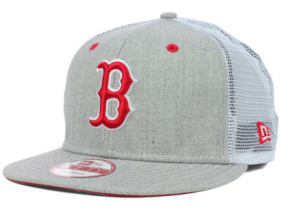Boston Red Sox MLB Heather Trucker 9FIFTY Snapback Cap Hats
