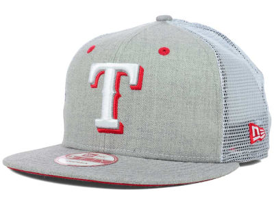 Texas Rangers MLB Heather Trucker 9FIFTY Snapback Cap Hats