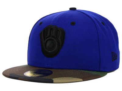 Milwaukee Brewers MLB Color Woodland 59FIFTY Cap Hats