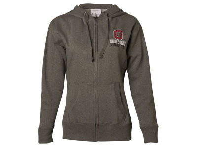 J America NCAA Women's Wordmark Stack Full Zip Hoodie