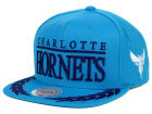 Charlotte Hornets Mitchell and Ness NBA Laurel Snapback Hat Adjustable Hats