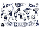 Indianapolis Colts Rico Industries Family Decal Set Auto Accessories