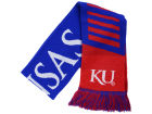 Kansas Jayhawks Forever Collectibles Knit Scarf Wordmark Apparel & Accessories
