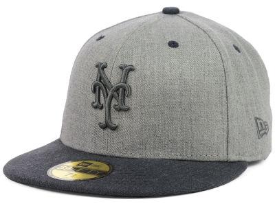 online store 9961b 5f030 New York Mets New Era MLB Heather Mashup 59FIFTY Cap   lids.com