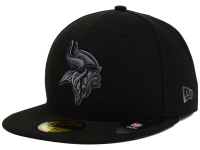 Minnesota Vikings NFL Black Gray Basic 59FIFTY Cap Hats