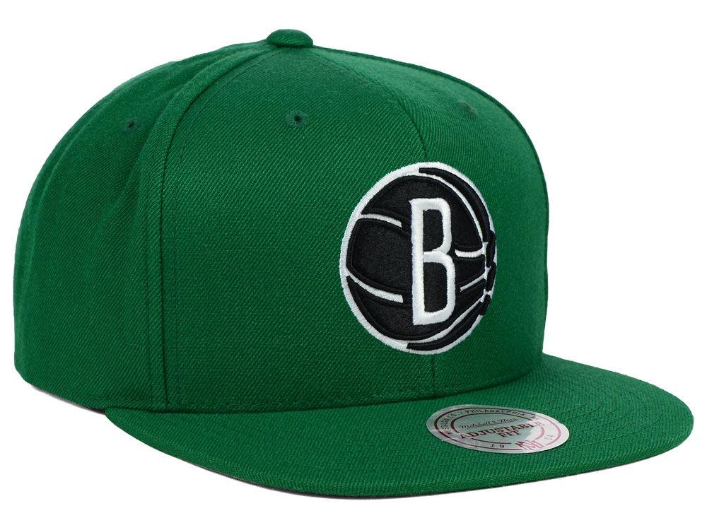 quality design c6c0e 693b2 Brooklyn Nets Mitchell and Ness NBA Team BW Snapback Hat 30%OFF