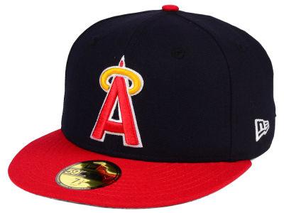 Lids Custom Hats >> Los Angeles Angels New Era MLB Cooperstown 59FIFTY Cap ...