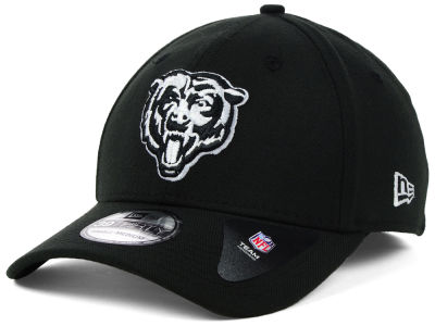 Chicago Bears NFL Black White Team Classic 39THIRTY Cap Hats