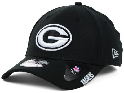 Green Bay Packers NFL Black White Team Classic 39THIRTY Cap Hats