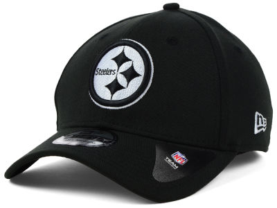 Pittsburgh Steelers NFL Black White Team Classic 39THIRTY Cap Hats