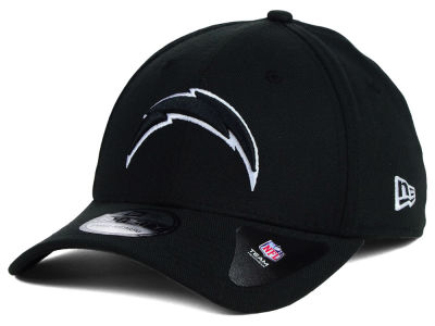 San Diego Chargers NFL Black White Team Classic 39THIRTY Cap Hats