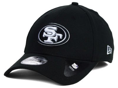 San Francisco 49ers NFL Black White Team Classic 39THIRTY Cap Hats