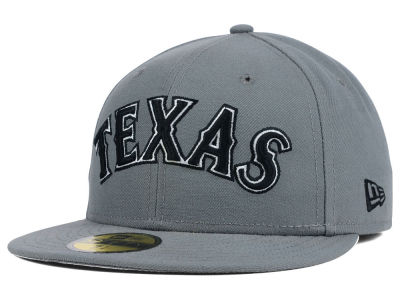 Texas Rangers MLB Gray BW 59FIFTY Cap Hats