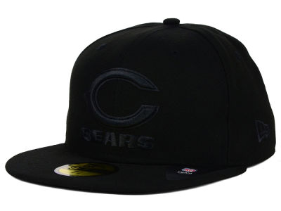 Chicago Bears NFL Black on Black 59FIFTY Cap Hats