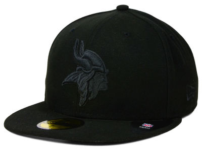 Minnesota Vikings NFL Black on Black 59FIFTY Cap Hats