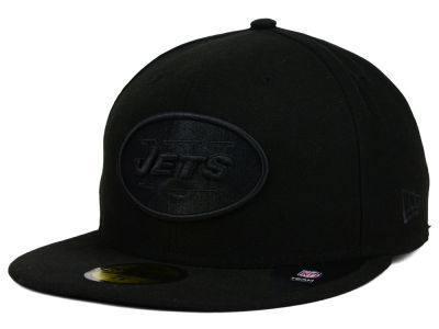 New York Jets NFL Black on Black 59FIFTY Cap Hats