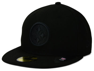 Pittsburgh Steelers NFL Black on Black 59FIFTY Cap Hats