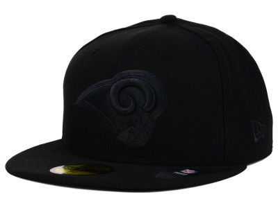 Los Angeles Rams NFL Black on Black 59FIFTY Cap Hats