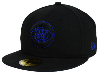 New York Nets NBA HWC Black on Color 59FIFTY Cap Hats