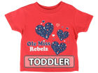 Ole Miss Rebels NCAA Toddler Heart T-Shirt T-Shirts