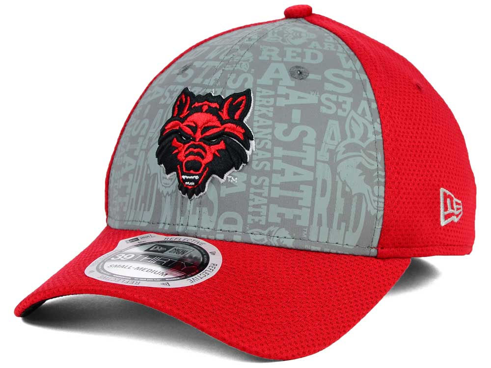 best sneakers dced0 8b2e8 80%OFF Arkansas State Red Wolves New Era NCAA Reflective Training Mesh 39THIRTY  Cap