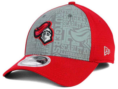 Rutgers Scarlet Knights NCAA Reflective Training Mesh 39THIRTY Cap Hats