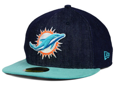 Miami Dolphins NFL Densuede 59FIFTY Cap Hats