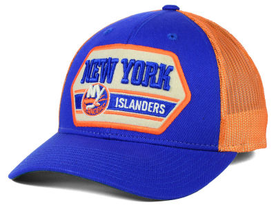 New York Islanders Reebok Nhl Patched Trucker Cap Lids Com