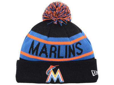 Miami Marlins MLB Biggest Fan Pom Knit Hats